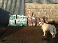 Logs sticks tonn bags