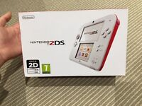 Brand New Nintendo 2DS White/Red plays 3DS games