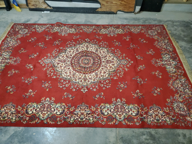 Wool Rug 1950's/60's Italian Machine made OR BEST OFFER ...