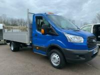 2015 65 FORD TRANSIT 350 125PS EU5 LWB EF L4 DROPSIDE BLUE PICKUP WITH TAILIFT