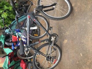 Men's grey Raleigh front supsension bike for sale