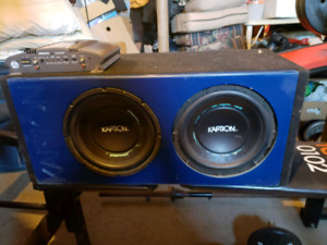 2 10inch kaption subs ppi amp $200