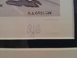 """""""Rock Study"""" Lithograph by A.J. Casson appraised at $650 Sarnia Sarnia Area image 4"""