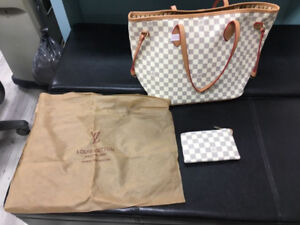 Louis Vuitton designer inspired Keepall with wallet and dust bag