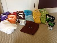 Full set of cloth diapers and accessories