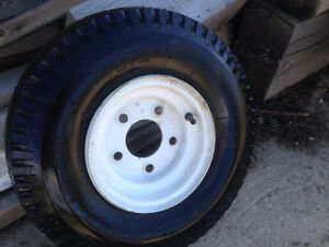 Hardly used Kenda trailer tire,  5.70 - 8, on rim