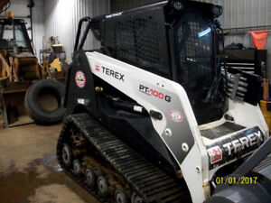 2011  Skid steerTerex positrack pt-100G Forestery with mulcher