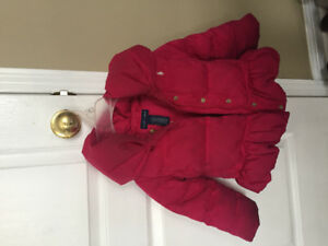 Ralph Lauren extra warm pinky puffy coat size 2T