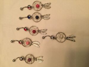Brand New 240 Pieces Belly & Nose rings w/storage box