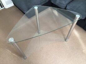 Glass Corner Desk