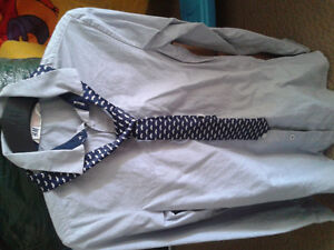 Boys dress pant shirt and tie