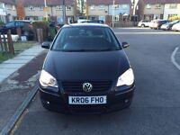 2006 Volkswagen Polo Manual Petrol 1.4 S 5dr Hatchback Black Hpi Clear