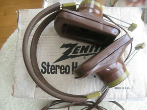 OLD VINTAGE ['60's] STEREO HEAD PHONES...NEVER USED