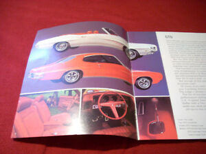 1970 Pontiac GTO sales brochure Peterborough Peterborough Area image 2
