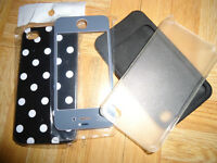 New Black  Protection Hard Case Cover For iPhone 4 4S 4G and mor