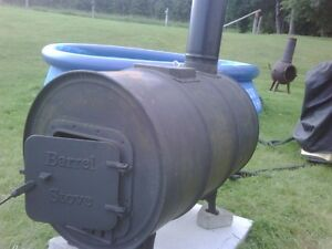 Barrel stove / Hill-Billy Water Heater