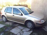 VW GOLF 1.6L SE 2001 spares or repair