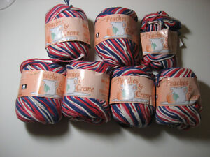 100% Cotton Yarn - Colour is FADED GLORY - 6+ red white blue