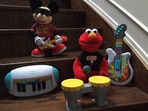 Let's rock Elmo and Rock star Mickey