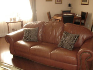 2 pieces living room  leather set