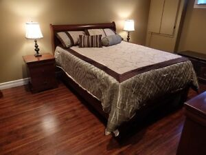 Queen Bedroom Set (Including matress & bedding set)