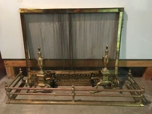 Brass Fireplace Sreen