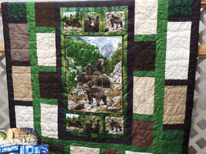 Momma Bear and Cubs Quilt