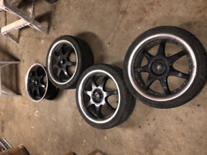 Set of 4 Motegi FF7 17 in. Racing Rims