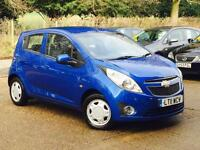 2011 Chevrolet Spark 1.0 LS 5 Door Blue only 54,006 Miles FSH SUPERB!!!!!!