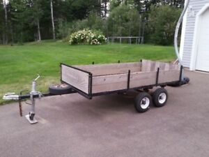 "Dual axel Trailer (8'x4'2"") for sale."