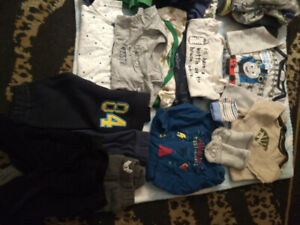 Baby boy clothes 0-3 mts and 3-6 mts