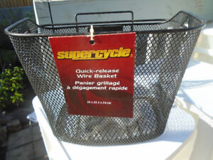 NEW, Supercycle Quick-Release Wire Basket.