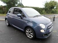 FIAT 500 C SPORT Convertible Just 10600 miles F.S.H Stunning Car, Blue, Manual,