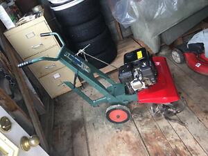 Garden tiller. New engine.