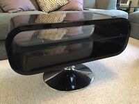Black Gloss and Glass TV Unit / Stand
