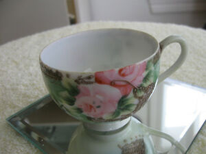 ADORABLE VERY OLD VINTAGE WAFER-THIN NIPPON CHINA TEA CUP