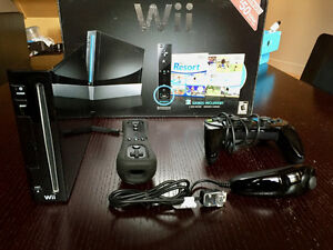 Nintendo Wii Console + 3 Games - Like-new