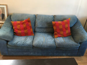 Couch, loveseat, chair and lamps for sale