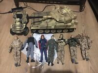 HM armed forces 7 figures, tank and quad