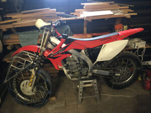 2005 CRF 450 ice bike.