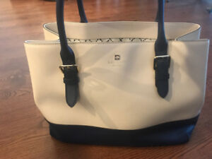 Kate Spade Navy and Cream Tote