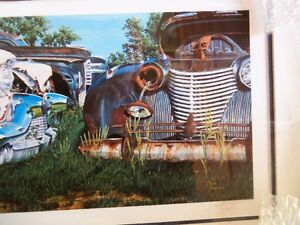 """'CADILLACS AND PACKARDS'  framed Limited Edition Print 16""""X36"""" Kitchener / Waterloo Kitchener Area image 5"""