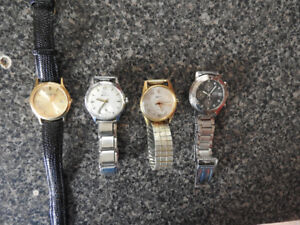 MEN'S VINTAGE SWISS WATCHES PLUS ONE GUESS WATCH