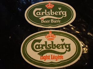 Carlsberg banner and two oblong coasters Cornwall Ontario image 2
