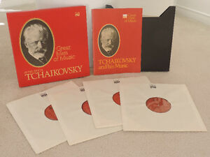 Collector's TCHAIKOVSKY Records (4) w/ Box & Booklet. Like new.