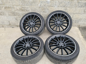 "18"" Mercedes AMG SPORT PLUS STYLE Alloy Wheels and Tyres.C Class A B E"