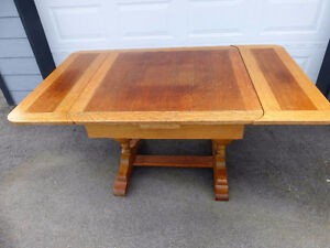 1930's Oak Table and Four Chairs