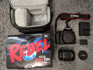 FOR SALE- Canon EOS Rebel T6i DSLR Camera with 18-55mm/24mm Lens