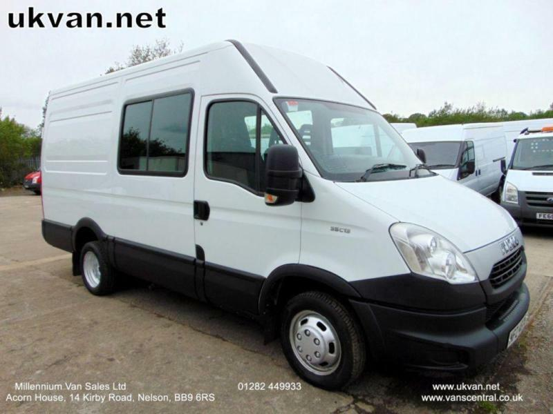 2013 IVECO DAILY, 6 SEAT CREW VAN, 1 OWNER, BIG 126BHP!, TWIN WHEEL # TOW BAR #