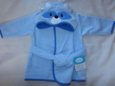 Luvable Friends Blue Bath Robe Baby 0-9 months